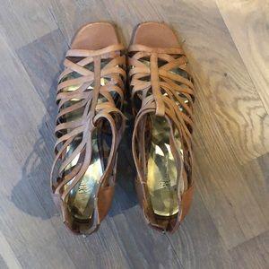 Tan strappy INC heels
